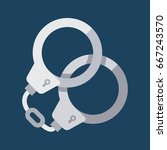 handcuffs icon isolated....   Shutterstock .eps vector #667243570
