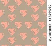 seamless pattern of gentle... | Shutterstock .eps vector #667244080