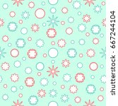 seamless pattern of abstract... | Shutterstock .eps vector #667244104