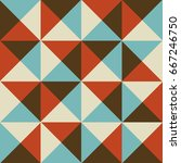 vintage style triangles and... | Shutterstock .eps vector #667246750