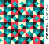 vintage geometric pattern with... | Shutterstock .eps vector #667246918