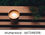 paper cup of coffee take away ... | Shutterstock . vector #667248358