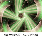 Abstract Fractal With  Glowing...