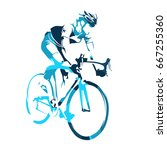 road cyclist on his bicycle ... | Shutterstock .eps vector #667255360