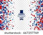 usa happy independence day... | Shutterstock .eps vector #667257769