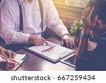 businessman boss blaming his... | Shutterstock . vector #667259434