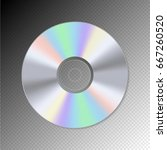 dvd or cd disc. blue ray... | Shutterstock .eps vector #667260520