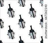 bugs seamless pattern. bugs... | Shutterstock .eps vector #667262140