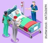 clinic nurse education training ... | Shutterstock .eps vector #667263694