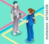 clinic nurse education training ...   Shutterstock .eps vector #667264108