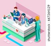 clinic nurse station day... | Shutterstock .eps vector #667264129