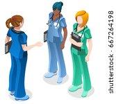 clinic nurse education day... | Shutterstock .eps vector #667264198