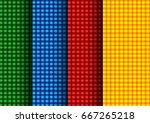 green  blue  red  orange... | Shutterstock .eps vector #667265218