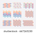 modern colorful collection of... | Shutterstock .eps vector #667265230