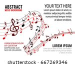 music notes on a solide white...   Shutterstock .eps vector #667269346