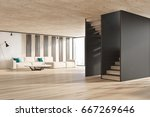 side view of a living room... | Shutterstock . vector #667269646