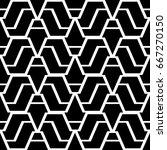 design seamless monochrome... | Shutterstock .eps vector #667270150