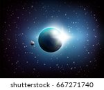 dark colored space background... | Shutterstock .eps vector #667271740