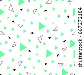 geometric creative colorful... | Shutterstock .eps vector #667272184