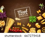 realistic brown background with ... | Shutterstock .eps vector #667275418