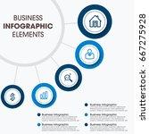 modern infographics paper... | Shutterstock .eps vector #667275928