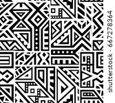 creative ethnic style square... | Shutterstock .eps vector #667278364