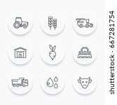 agriculture  farming line icons ...   Shutterstock .eps vector #667281754