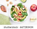 healthy breakfast with fruit... | Shutterstock . vector #667283434