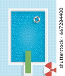 swimming pool background with... | Shutterstock .eps vector #667284400