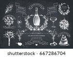 vector set of decorative design ... | Shutterstock .eps vector #667286704