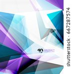 3d triangle polygonal abstract... | Shutterstock .eps vector #667287574