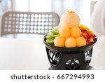 amazing patbingsu include with... | Shutterstock . vector #667294993
