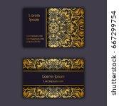 ornamental floral business... | Shutterstock .eps vector #667299754
