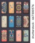 phone cover collection  ethnic  ...   Shutterstock .eps vector #667300576
