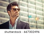 Handsome Businessman With...