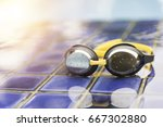 goggles on the side of a... | Shutterstock . vector #667302880