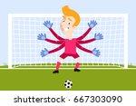 illustration of over sized... | Shutterstock .eps vector #667303090