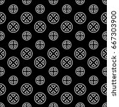 seamless crosses pattern and... | Shutterstock .eps vector #667303900