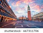 fantastic sunset on san marco... | Shutterstock . vector #667311706