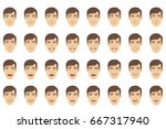 emotions set. businessman with... | Shutterstock .eps vector #667317940