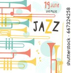 vector poster for the jazz... | Shutterstock .eps vector #667324258