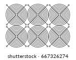 3d illustration of fan grill... | Shutterstock . vector #667326274
