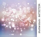 bokeh lights background | Shutterstock .eps vector #667327234