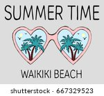 vintage tropical graphic.... | Shutterstock .eps vector #667329523