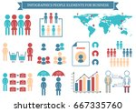 collection of infographic... | Shutterstock .eps vector #667335760