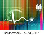 pulse monitoring abstract  ... | Shutterstock . vector #667336414