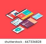 isometric app concept  modern...
