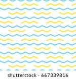 seamless wave pattern. vector... | Shutterstock .eps vector #667339816