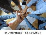 work group of gngineer  people... | Shutterstock . vector #667342534
