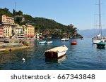 portofino  italy   june 13 ...   Shutterstock . vector #667343848